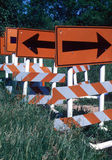 Which Way. Some Very confusing Road Signs Stock Photo
