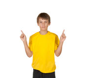 Which way, boy making decisions Stock Photography