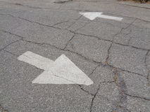 Which Way, Directional Traffic Arrows, Background Stock Images