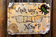Free Which Way Now Sign Stock Photography - 51725272