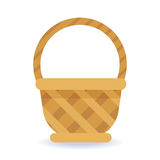 Whickered basket on a white background. Whickered basket on a white background Royalty Free Stock Photo