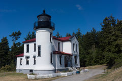 Lighthouse Admiralty Head Whidbey Island. On the grounds of the old Fort Casey in Washington guarding the straits of Juan de Fuca, is the Admiralty Head Stock Photos