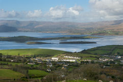 Whiddy Island from Seskin Hill on Bantry Bay Stock Images