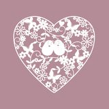 whie шаржа изолированное сердцем Стоковые Фото
