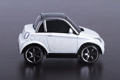 Whie Car on Table Royalty Free Stock Photo