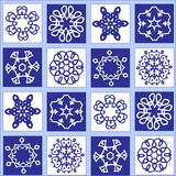 Whight and blue pattern seamless Stock Images