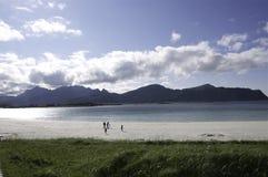 Lofoten beach Stock Photography
