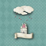 Whimsical backdrop with banner Royalty Free Stock Photo