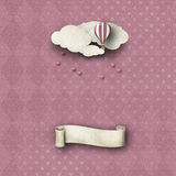 Whimsical backdrop in pink with banner Royalty Free Stock Images