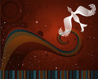 Whimsical Background. Illustration of a whimsical background with stripes, sparkles, and bird stock illustration