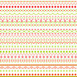 Whimsical background with dots and  lines. On white Royalty Free Stock Photos