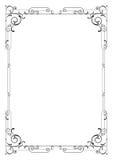 Whimsical black rectangular frame. Stock Images