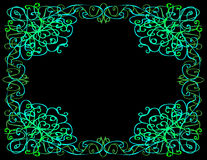 Whimsical Border, Black Background Stock Image