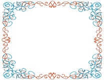 Whimsical Border, White Background Royalty Free Stock Photos