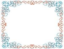 Whimsical Border, White Background Royalty Free Stock Photos
