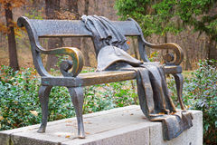 Whimsical bronze bench Stock Photography