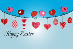 Whimsical chicks Easter message Stock Images