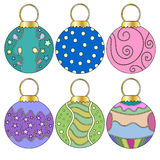 Whimsical Christmas Bauble Collection Royalty Free Stock Photo