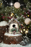 Whimsical Christmas Birdhouse 2 Royalty Free Stock Images