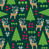 Whimsical Christmas pattern Stock Image
