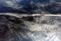 Whimsical cirrus clouds Stock Images