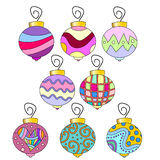Whimsical, colorful  bauble collection Royalty Free Stock Images