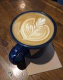 Beautiful Latte Art, Coffee Foam Royalty Free Stock Photo