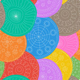Whimsical doily pattern Stock Photos