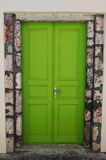 Whimsical Door. Coloured door in a house of Oia (Santorini island, Greece stock photo