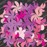 Abstract Whimsical Flower Background Stock Photography