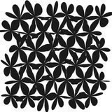 Abstract Whimsical Flower Background. Whimsical Floral  Background, Flower Black and White, Exquisite Gentle Floral Graphic Ornament, Minimalistic Fashion Royalty Free Stock Photo