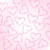 Whimsical floral hearts, seamless pattern Stock Photos