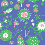 Whimsical floral seamless pattern Royalty Free Stock Photo