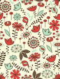 Whimsical floral seamless pattern. Hand draw floral seamless pattern Royalty Free Stock Photos