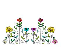 Whimsical Flower Illustration Stock Images