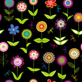 Whimsical flowers background Royalty Free Stock Images