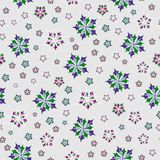 Whimsical flowers and shapes. Floral ornament Seamless vector illustration pattern for fabric, clothes/accessories, background, textile, wrapping paper and other Royalty Free Illustration