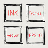 Whimsical frames hand painted with brush Royalty Free Stock Photos