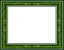 Green Graffiti Scribble Border Stock Image