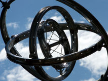 Whimsical Gyro. Humorous gyroscope made from old bicycle parts Royalty Free Stock Photos