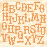 Whimsical Hand Drawn Alphabet Letters Stock Photos