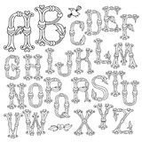 Whimsical Hand Drawn Alphabet Letters Stock Image