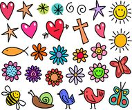 Whimsical Icons Royalty Free Stock Images