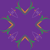 Whimsical Mardi Gras Border Frame Royalty Free Stock Photos
