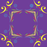 Whimsical Mardi Gras Border Frame Royalty Free Stock Image