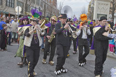 Whimsical Mardi Gras Parade Band Royalty Free Stock Photography