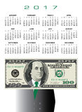 2017 whimsical money calendar. Ideal for any business Stock Illustration