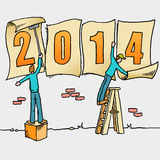 Whimsical New Year drawing Stock Image