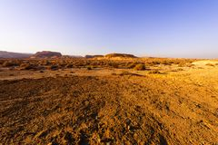 Whimsical Patterns of the Desert. Rocky hills of the Negev Desert in Israel. Breathtaking landscape of the rock formations in the Southern Israel. Dusty stock photography