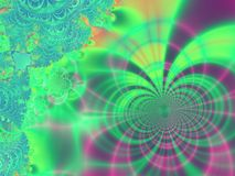 Whimsical Rainbow Abstract. Background Fractal Pattern Royalty Free Stock Photos